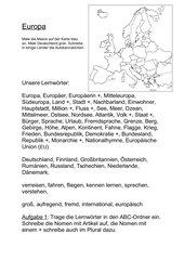Lernwörter - Europa