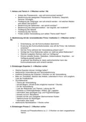 PR - Checkliste für eine Pressekonferenz