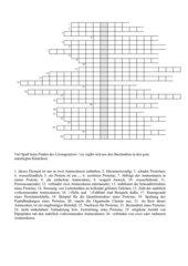 Kreuzworträtsel mit Lösung