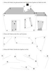 Übungsblatt zum Messen von Winkeln