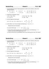 Nachprüfung Klasse 8