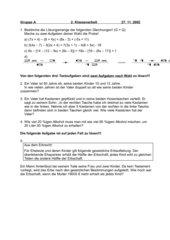 Lösen von Gleichungen (ohne Bruchgleichungen)
