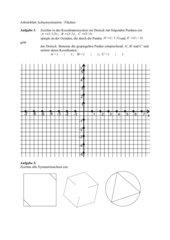 Achsensymmetrie, Koordinatensystem