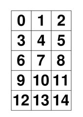 Numbers - Miniflashcards