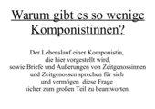 Fanny Mendelssohn - Hensel - Informationen über die deutsch-jüdische Komponistin