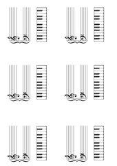 Tastatur & Piano-Notensystem