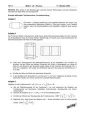 1. Klausur Mathe-LK 12.1