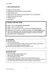Regeln für die Arbeit im Team/in einer Gruppe