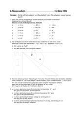 Kongruenzsätze und Anwendungen