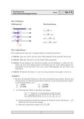 Einführung des Intervallschachtelungsverfahrens und weitere Aufgaben