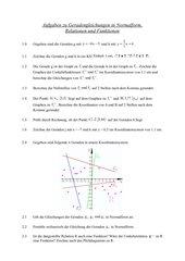 Aufgaben zu Geradengleichungen in Normalform