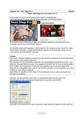 Einführung Paint Shop Pro 5