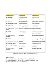 Arbeitsblatt: Satzergänzungen