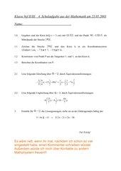 4. Schulaufgabe 8. Klasse nichttechnischer Zweig