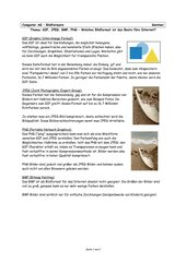 Infoblatt über Bildformate
