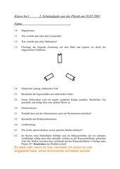 3. Schulaufgabe 9. Klasse technischer Zweig mit Lösungen