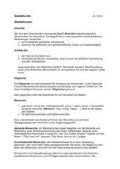 Staatsformen - Merkblatt