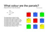 What colour are the parcels?