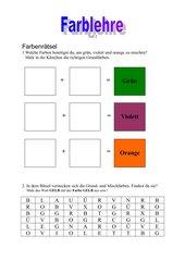 Farblehre im Kunstunterricht - Teil 2