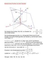 Abstand Punkt-Gerade mit Ebene