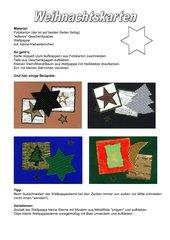 Bastelvorschlag - Weihnachtskarten
