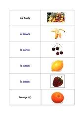 les aliments : Memo-Spiel / Zuordnungsspiel