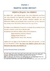 Deutsch Lernzirkel Adjektive - Adverb