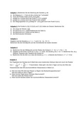 Klausur zur Koordinatengeometrie (Geraden, Kreis, Parabel)