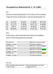 Mathe Klasse 5 Hauptschule - Übungsarbeiten