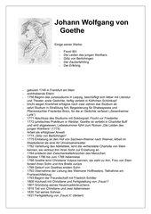 Goethe-Kurzbiographie