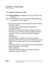 Burg im Nebel - Grautöne/Farbverläufe erzeugen