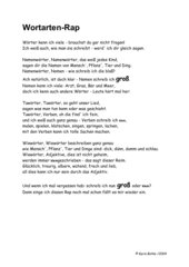 Wortarten-Rap