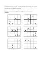 Quadrate - Buchstaben und Zahlen