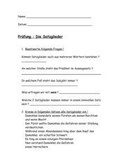 Prüfung Satzglieder