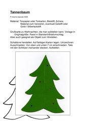 Tannenbaum / Grußkarte zum Aufstellen