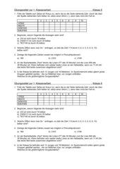 Klassenarbeit zu Teilbarkeitsregeln und PFZ