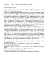 Klassenarbeit Bericht Klasse 5 mit Bewertungsbogen