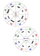 Kreispuzzle Namenwörter und Begleiter