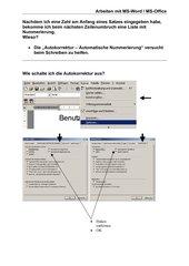 Arbeiten mit Word 2000 - Autokorrektur Nummerierung