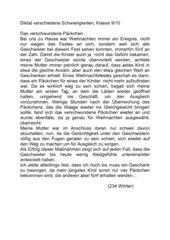 Diktat Klasse 9/10- Weihnachten/Anekdote