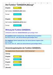 Die Funktion GANZZAHL