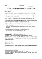 3. Wochenplan Deutsch/Geschichte Kl 7 Gym