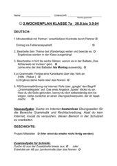 2. Wochenplan Kl.7 Gym Deutsch/Geschichte