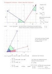 Winkel zwischen  Vektoren