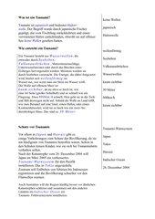 Tsunami-Lösungsblatt