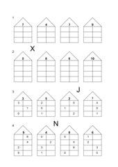 Aufgabenblatt Zahlenhäuser