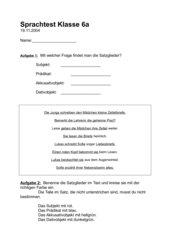 Satzglieder-Test