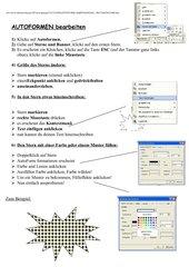 Informatik- Autoformen (für Anfänger)