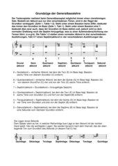 Generalbass Grundinformationen Klasse ab 11