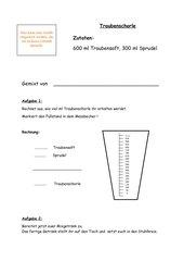 Mixgetränke - Anwendungsübung l/ml